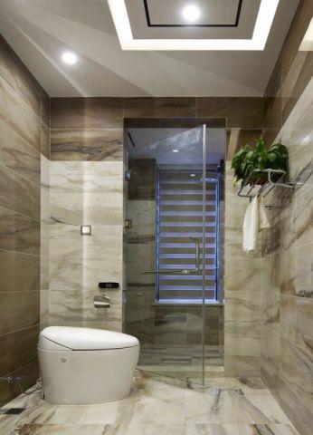 卫生间白色吊顶现代风格装饰设计图片