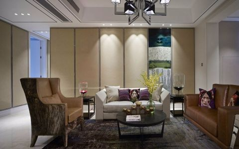 客厅白色沙发现代风格装修效果图