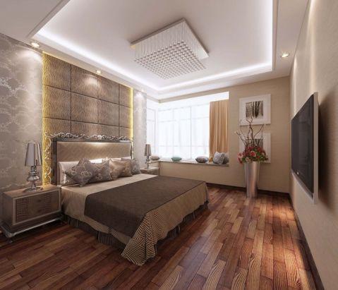 卧室白色飘窗现代欧式风格装修效果图