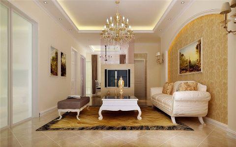 客厅白色沙发现代风格效果图