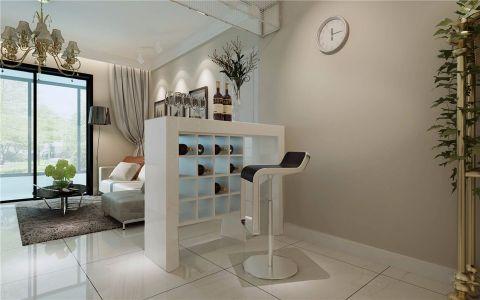 客厅白色吧台简欧风格装修效果图