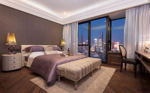 卧室白色窗帘现代简约风格装饰图片
