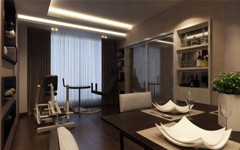 阳台窗帘现代简约风格装潢效果图