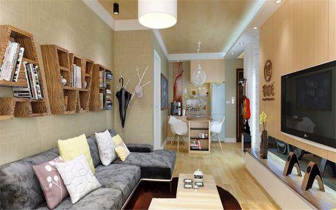 客厅黄色吊顶现代风格装饰图片