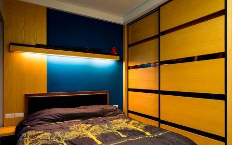 卧室黄色衣柜现代风格装潢图片