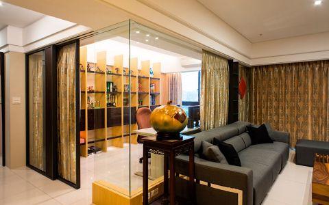 客厅白色隔断现代风格装饰设计图片
