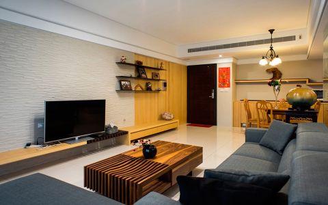 客厅黄色电视柜现代风格效果图