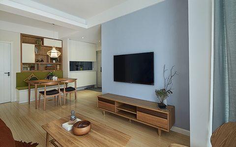 客厅黄色走廊简约风格装潢设计图片