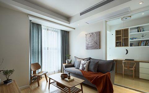 客厅灰色窗帘简约风格效果图