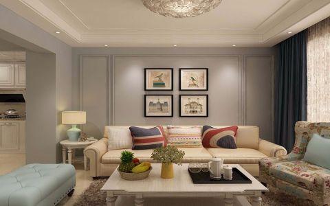 客厅米色沙发简约风格装饰图片