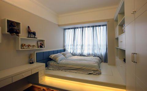卧室米色窗帘简约风格装饰设计图片