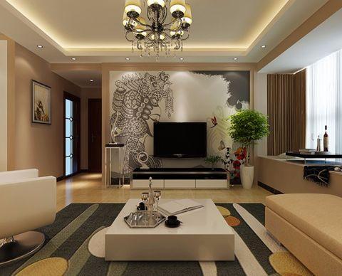 5万预算80平米三室两厅装修效果图