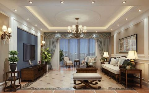12万预算120平米两室两厅装修效果图