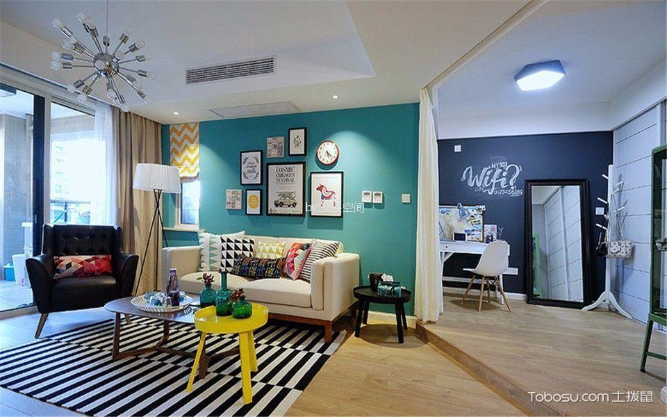 叠彩山现代简约两居室装修效果图