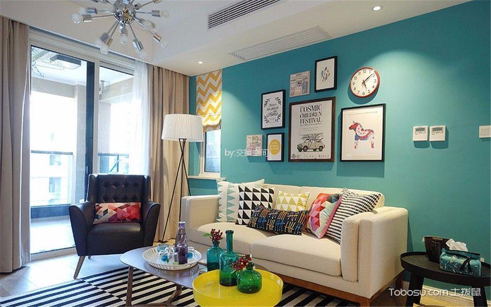 7.8万预算90平米两室两厅装修效果图