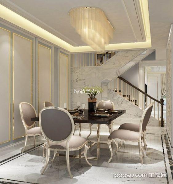 餐厅米色背景墙法式风格装饰图片