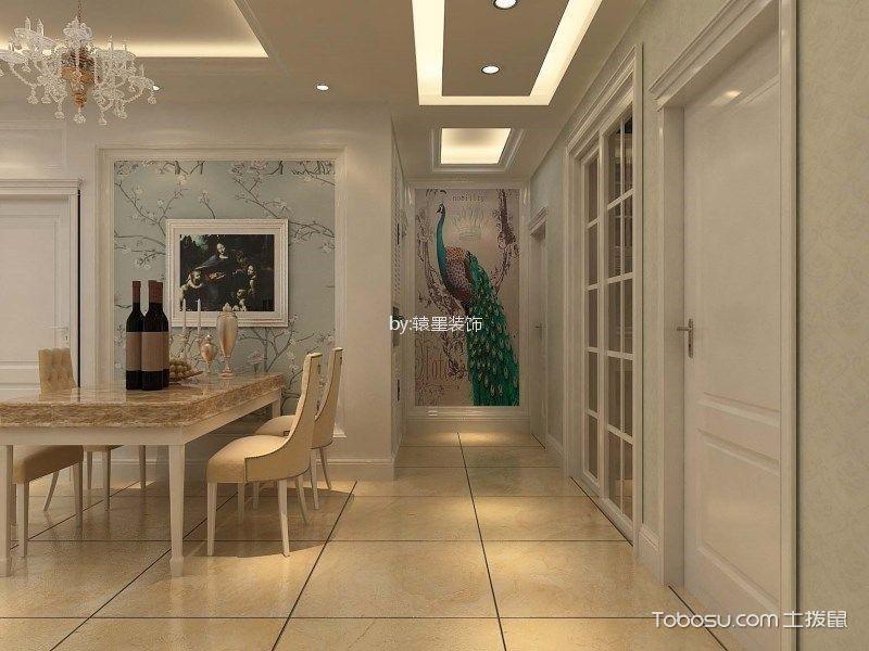 餐厅米色走廊简欧风格装潢设计图片