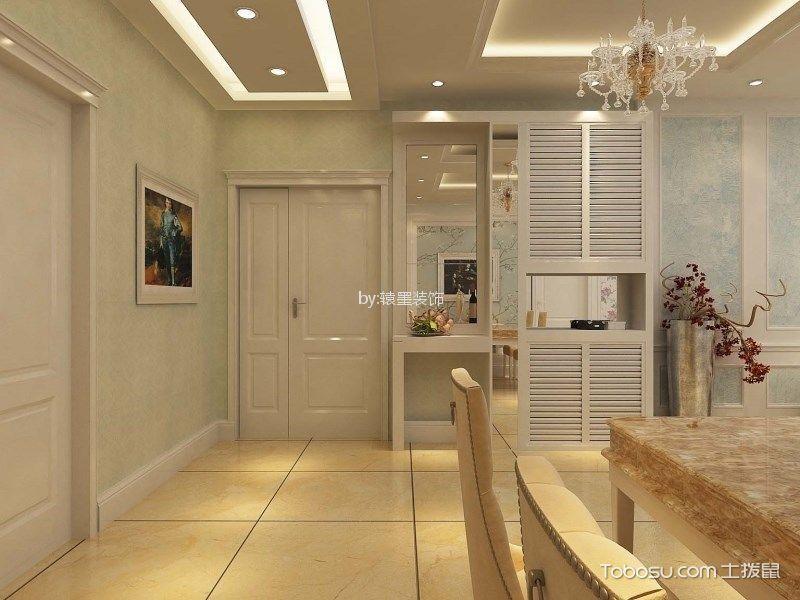 玄关米色走廊简欧风格效果图
