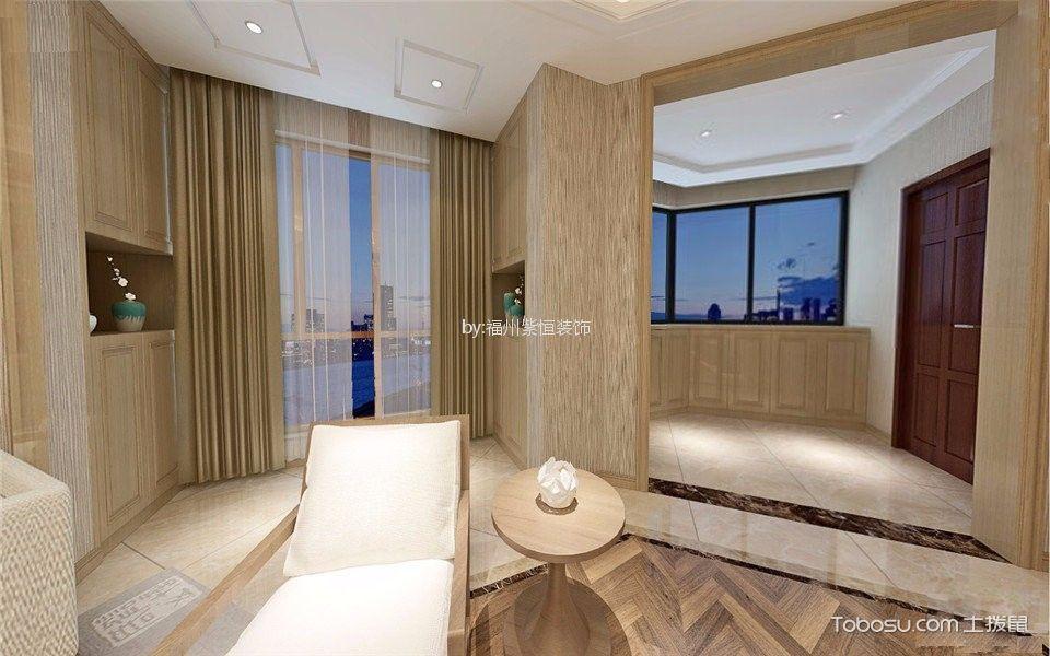 玄关米色门厅新中式风格效果图