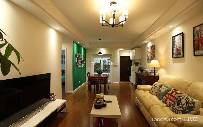 80平混搭风格二居室装修效果图