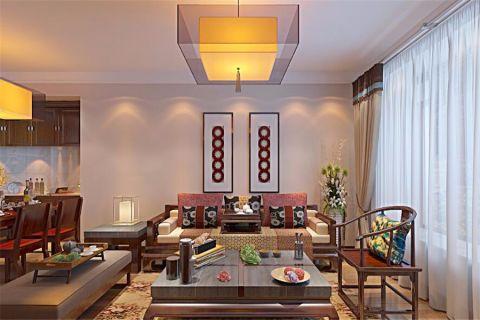 8万预算95平米两室两厅装修效果图