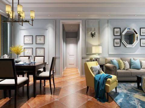 7.6万预算90平米三室两厅装修效果图