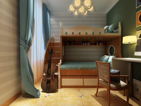 华地城三居室美式风格效果图