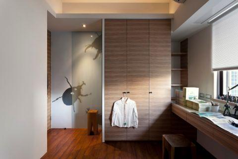衣帽间背景墙现代简约风格装修效果图
