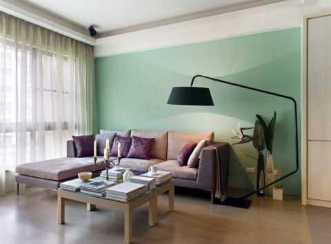 韩建雅苑80平现代简约风格两居室装修效果图