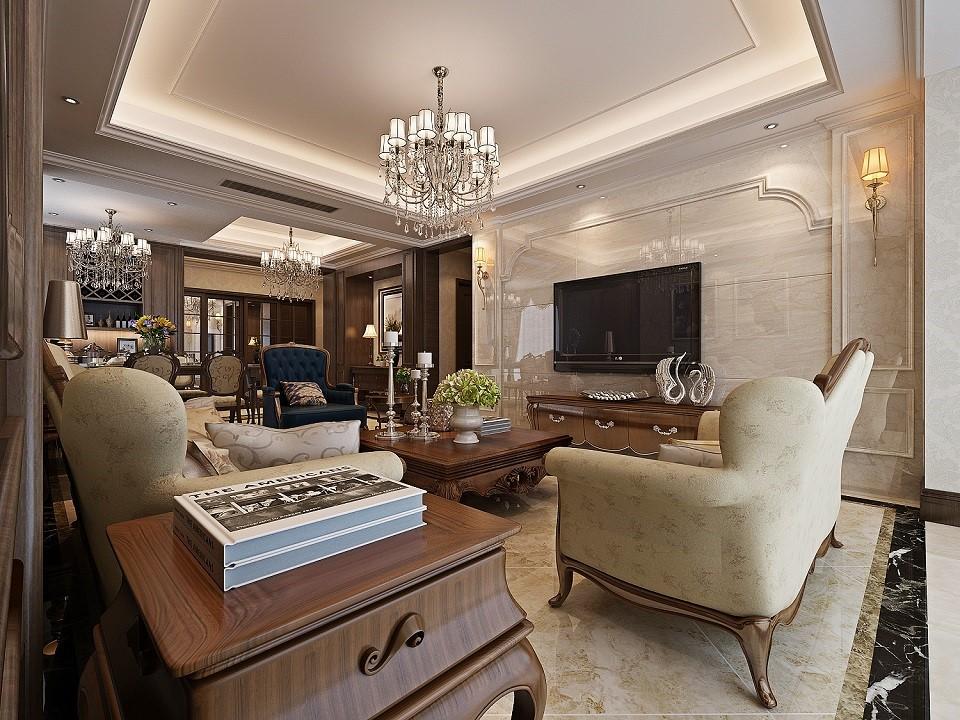 4室2卫2厅154平米美式风格