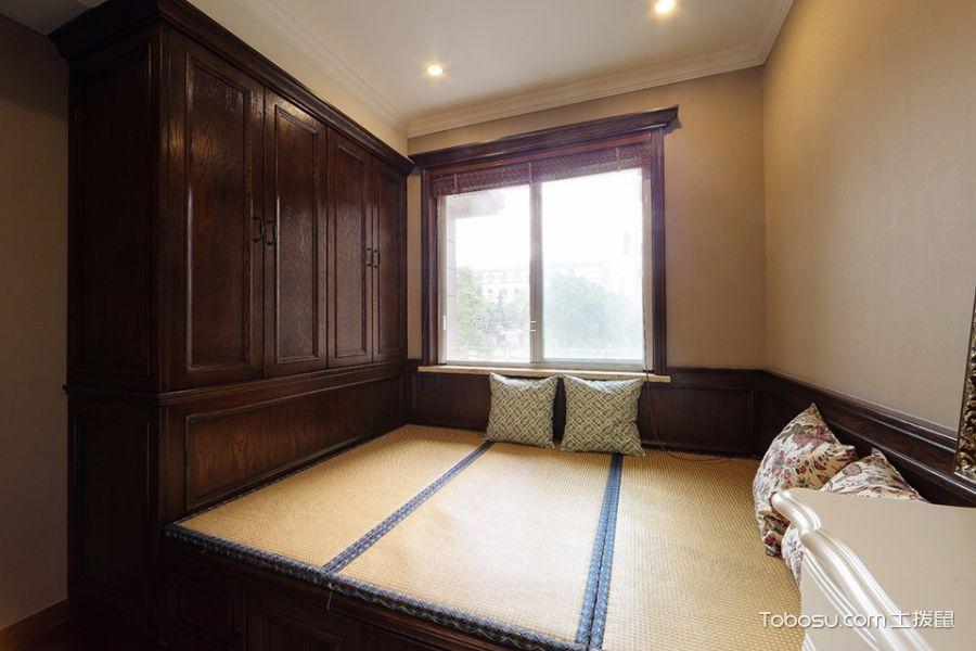 卧室咖啡色榻榻米新古典风格装潢图片