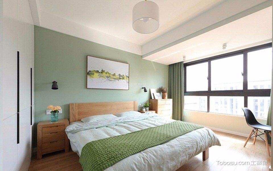 世茂宫园120平现代简约三室一厅装修效果图