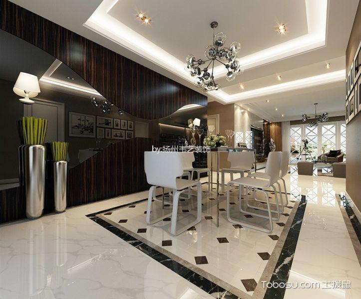 餐厅米色地砖现代风格效果图