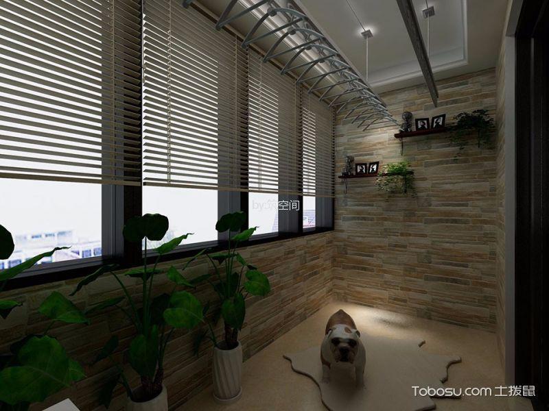 阳台白色走廊美式风格装潢图片