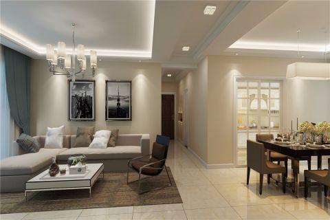 8万预算100平米三室两厅装修效果图