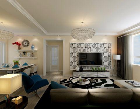 鼎世华府87平二居室现代风格装修效果图