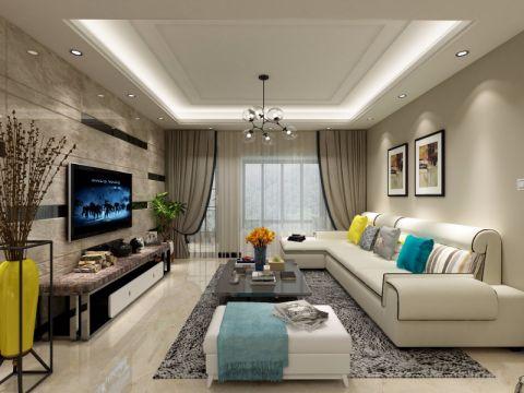 24.6万预算120平米三室两厅室装修效果图