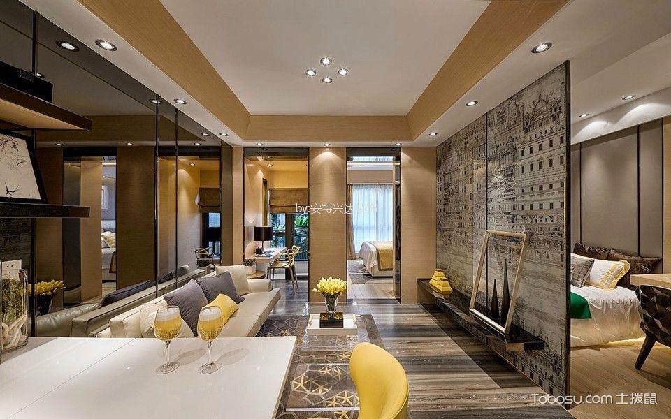 双港新家园148平米现代时尚三居室装修效果图