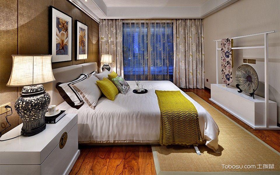 卧室白色床简中风格装修图片