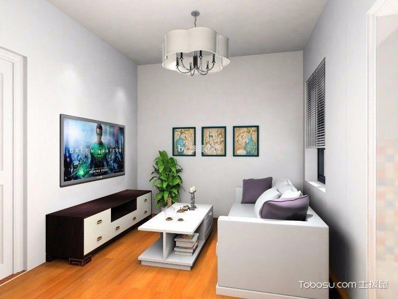 7.5万预算70平米两室两厅装修效果图