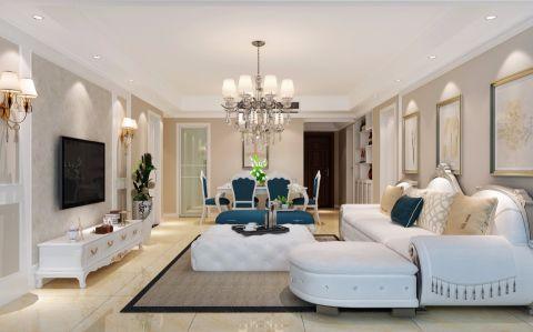 18万预算120平米四室两厅装修效果图