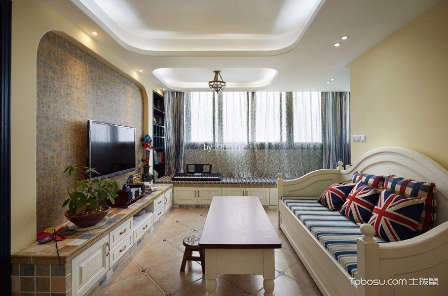 90平地中海三居室装修效果图