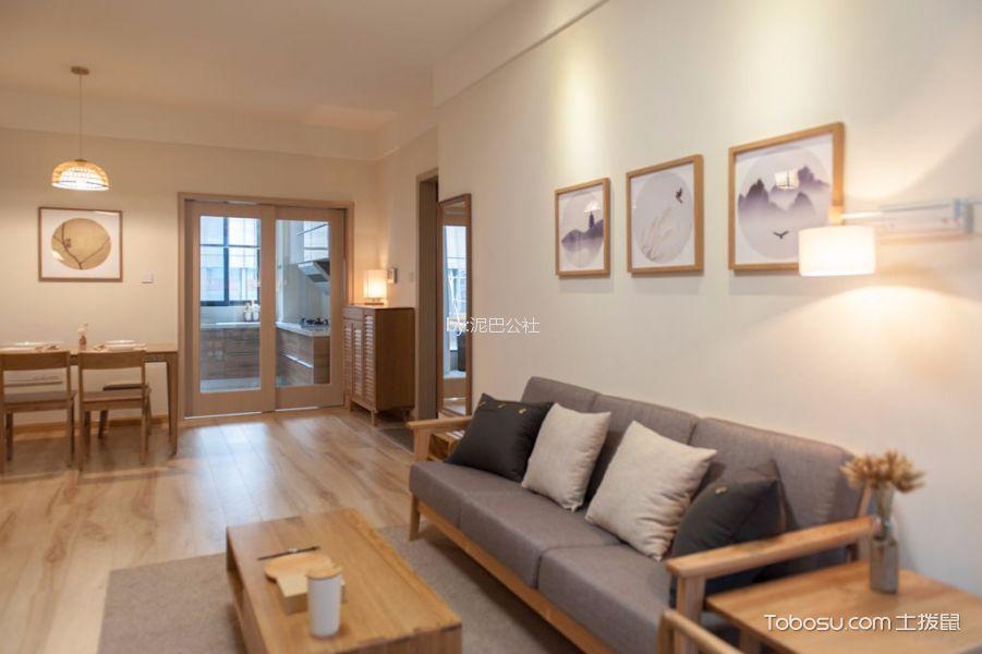 8.6万预算110平米两室两厅装修效果图
