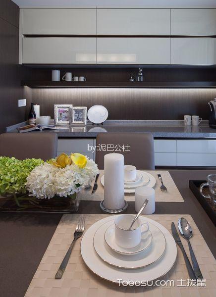 餐厅白色细节现代简约风格装饰设计图片