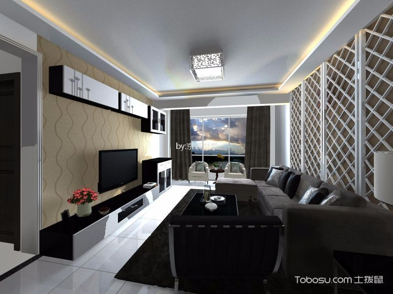 玺源台110平三居室欧式风格装修效果图