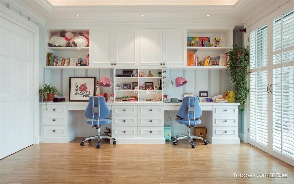 儿童房白色书桌简欧风格效果图