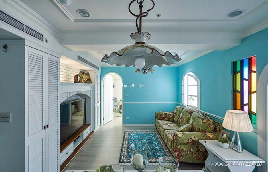 卧室白色吊顶田园风格装饰图片
