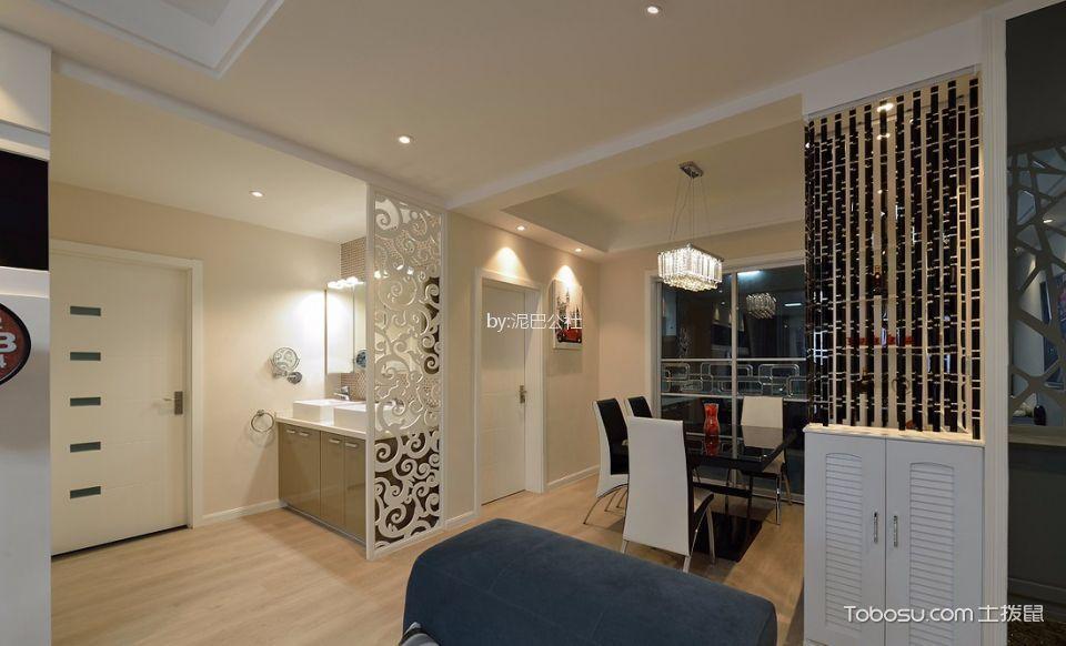 现代简约风格两居室装修效果