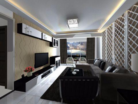 20万预算110平米三室两厅装修效果图