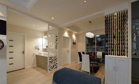 90平米现代二居室装修效果图